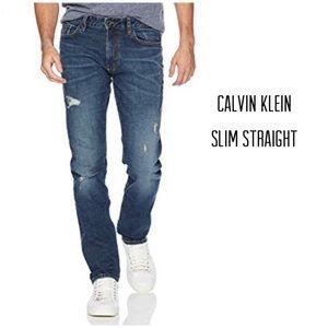 CALVIN KLEIN JEANS Destroyed Slim Fit ♠️♠️